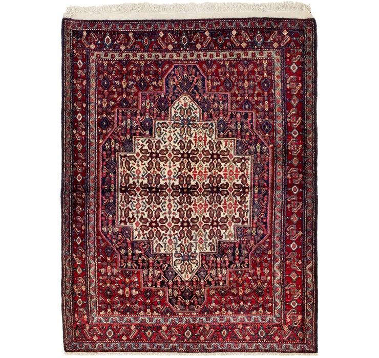 4' x 5' 3 Senneh Persian Rug