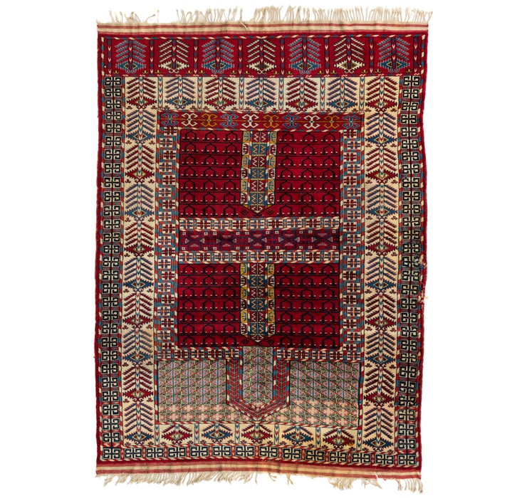 5' 2 x 7' Shirvan Persian Rug