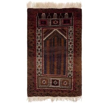 2' 9 x 4' 3 Balouch Persian Rug main image