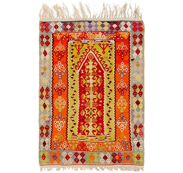 100cm x 132cm Kilim Fars Rug