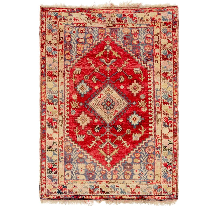3' 9 x 5' 5 Anatolian Oriental Rug