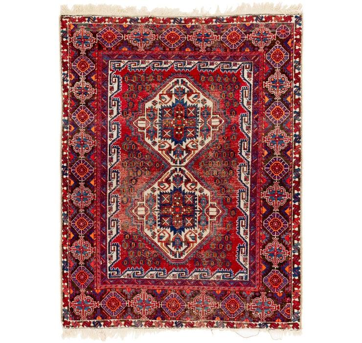 4' 10 x 6' 5 Gharajeh Persian Rug