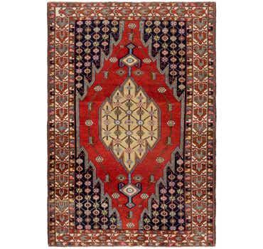 Image of 4' 4 x 6' 8 Mazlaghan Persian Rug