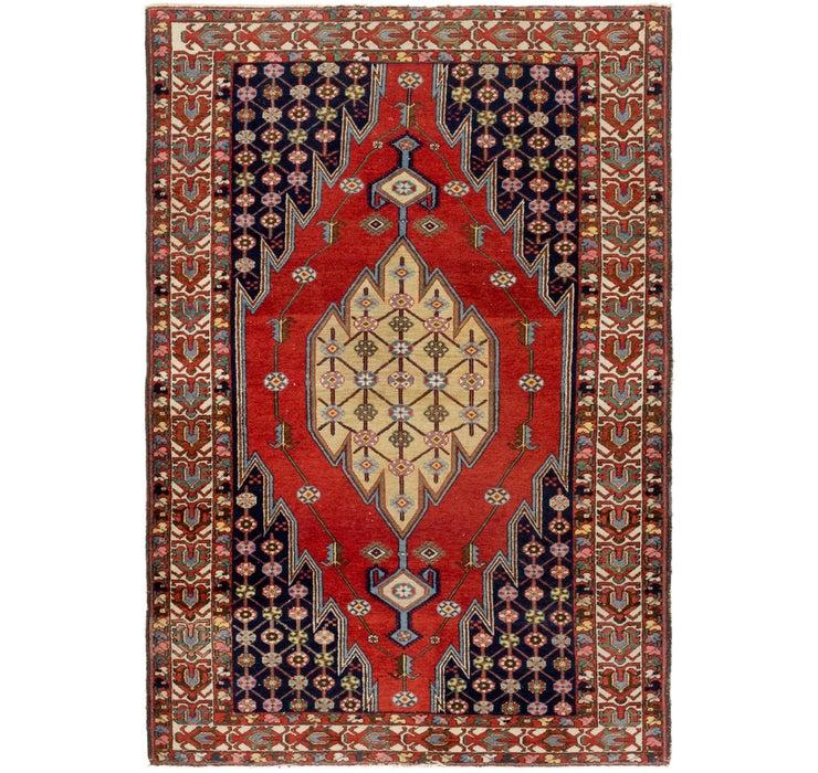 Image of 132cm x 203cm Mazlaghan Persian Rug