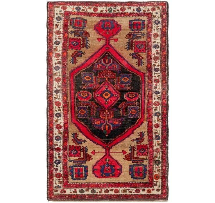 4' 4 x 7' 6 Hamedan Persian Rug