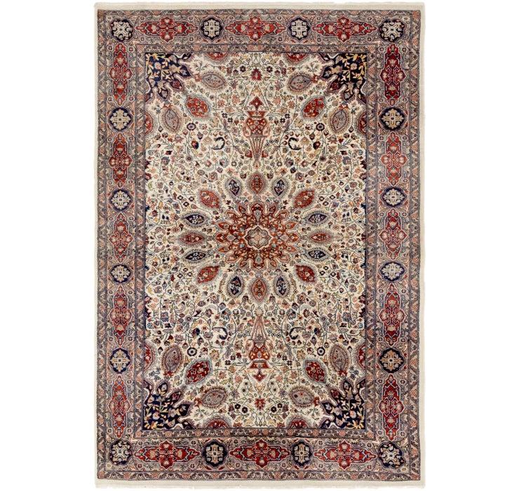 127cm x 188cm Tabriz Oriental Rug