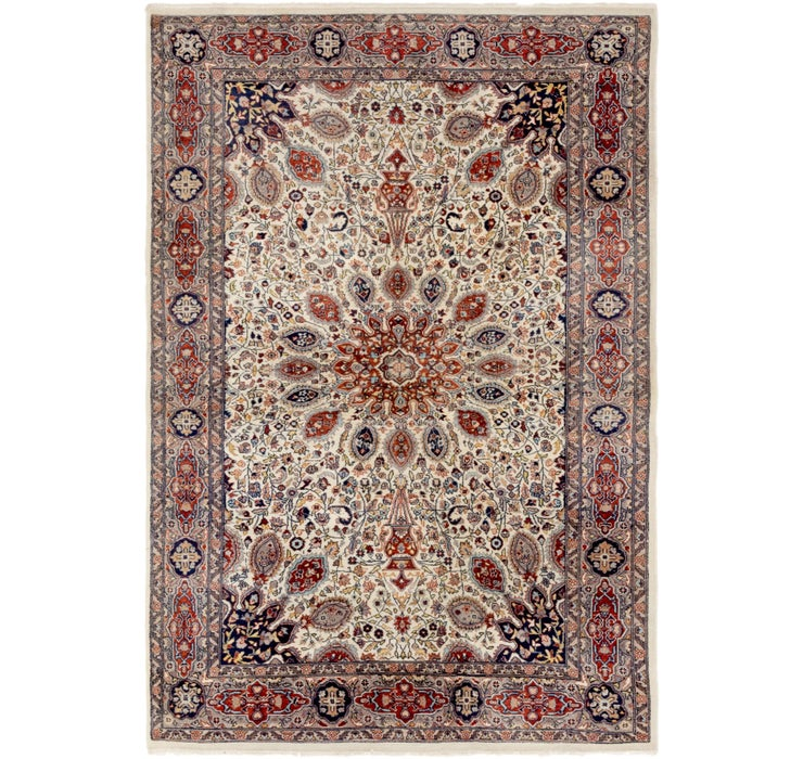 4' 2 x 6' 2 Tabriz Oriental Rug