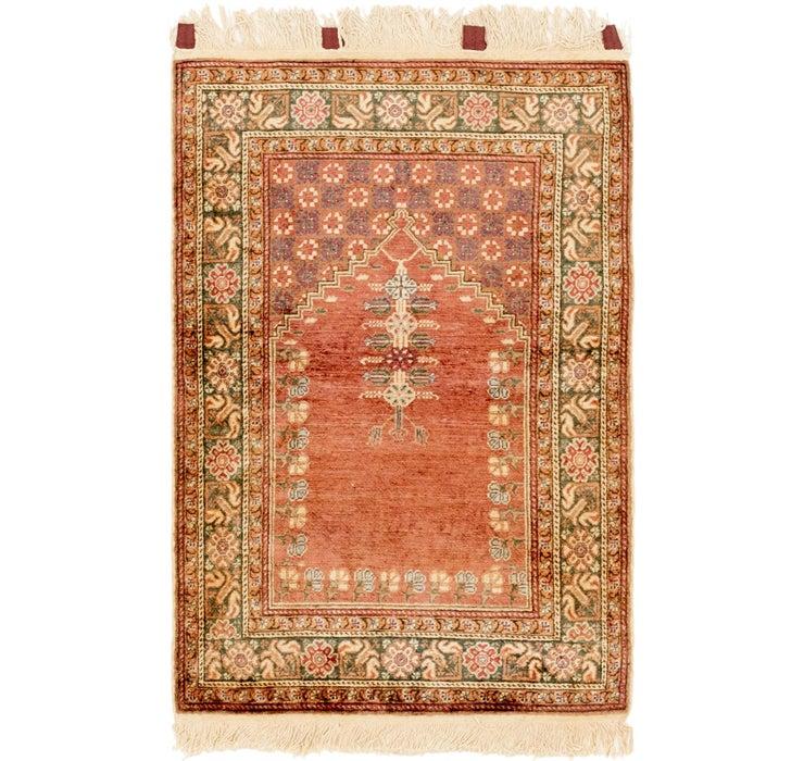 85cm x 132cm Hereke Oriental Rug