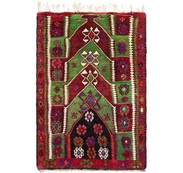 Image of 3' x 4' 6 Kilim Fars Rug