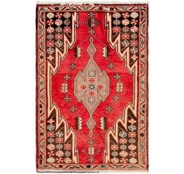 Image of 2' 9 x 4' Mazlaghan Persian Rug