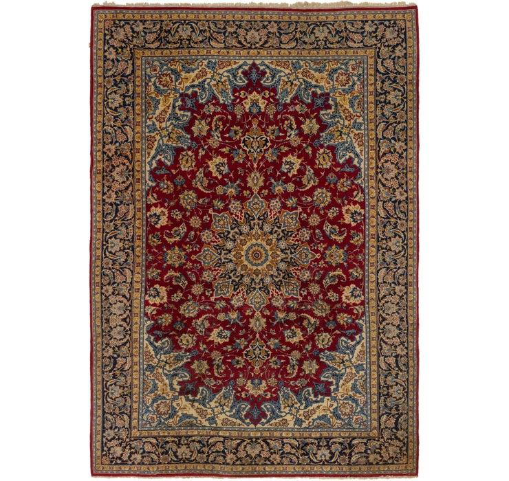 7' x 10' 8 Isfahan Persian Rug