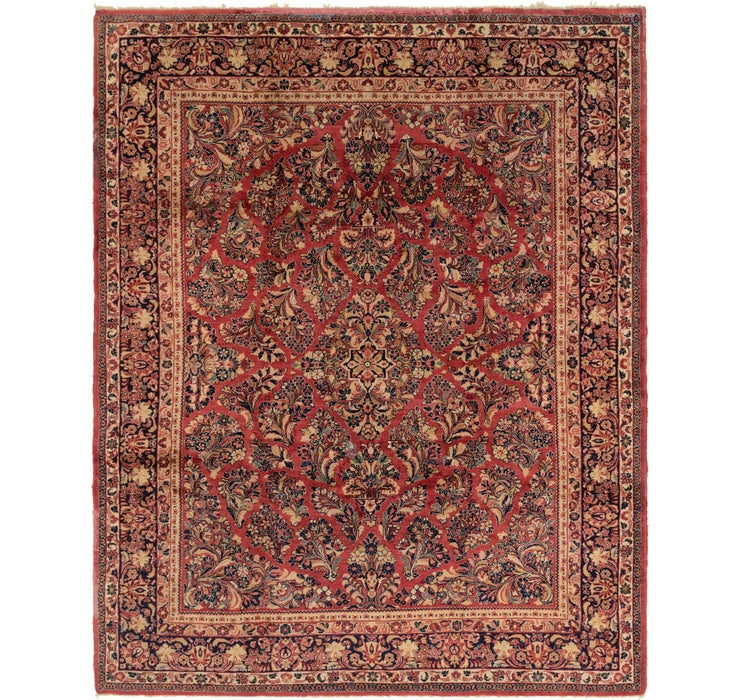 8' x 10' 2 Sarough Persian Rug