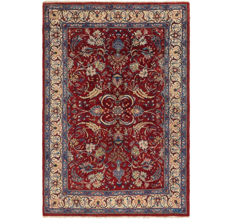 6' 9 x 10' 3 Sarough Persian Rug