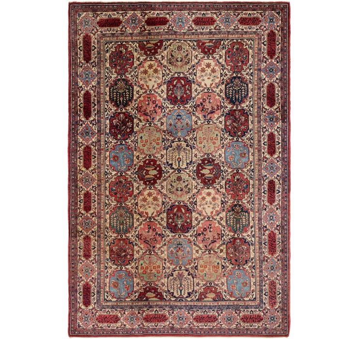 7' x 10' 4 Sarough Persian Rug