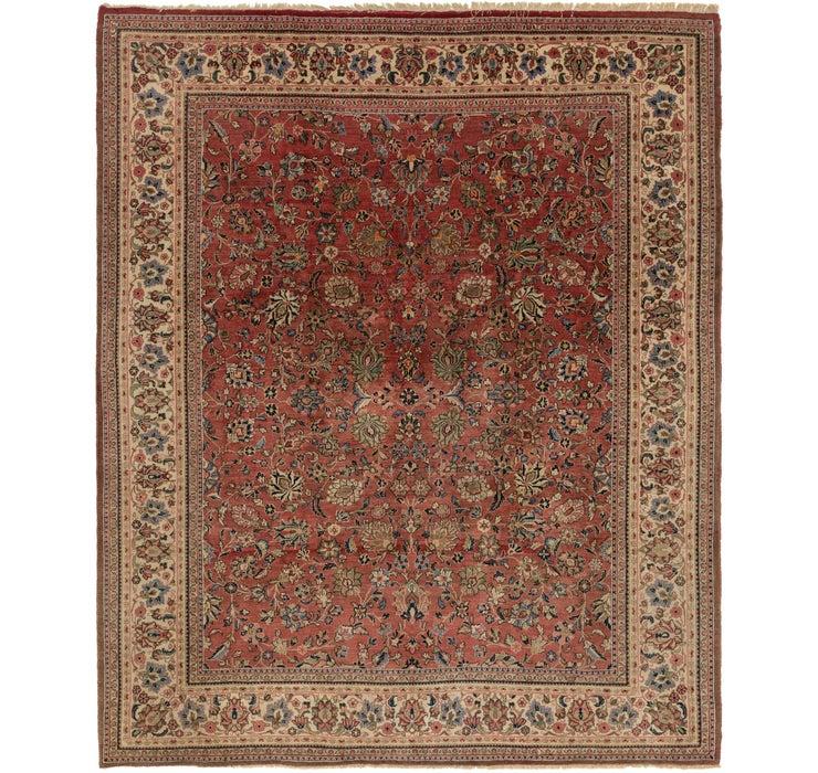 275cm x 350cm Meshkabad Persian Rug