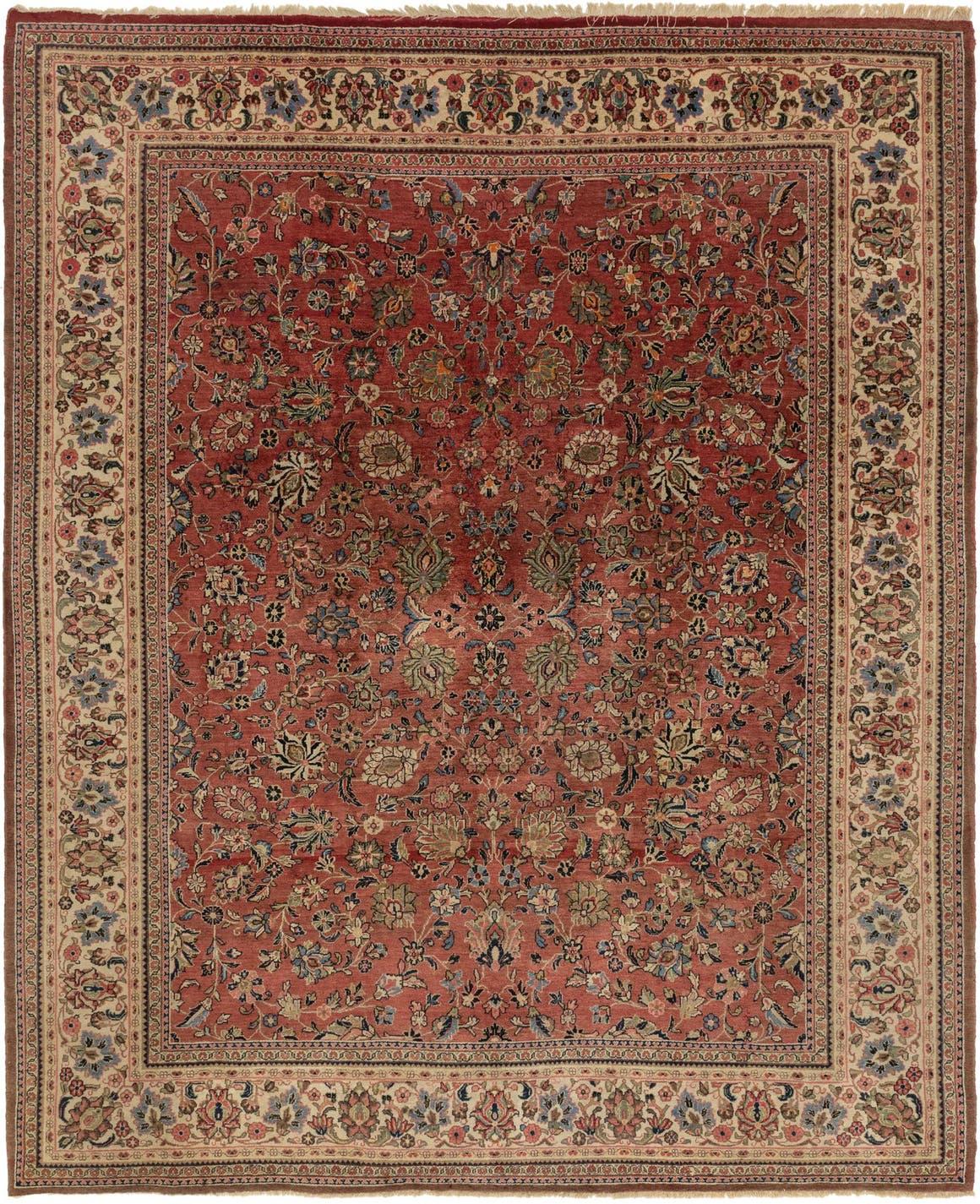 9' x 11' 6 Meshkabad Persian Rug main image