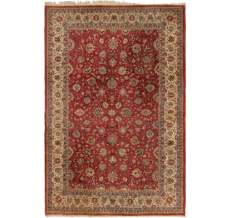 218cm x 340cm Sarough Persian Rug