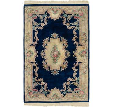 Image of 6' x 9' 4 Carved Pekin Rug