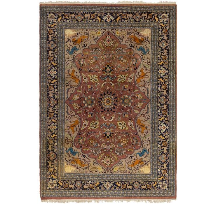 270cm x 385cm Tabriz Oriental Rug