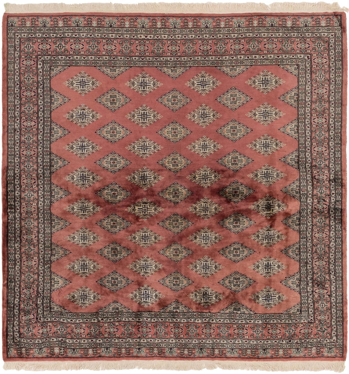7' x 7' 3 Bokhara Oriental Square Rug main image