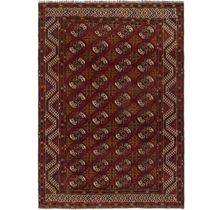 7' 7 x 10' 8 Afghan Akhche Rug