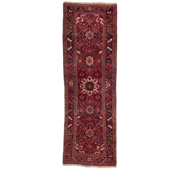 112cm x 340cm Heriz Persian Runner Rug