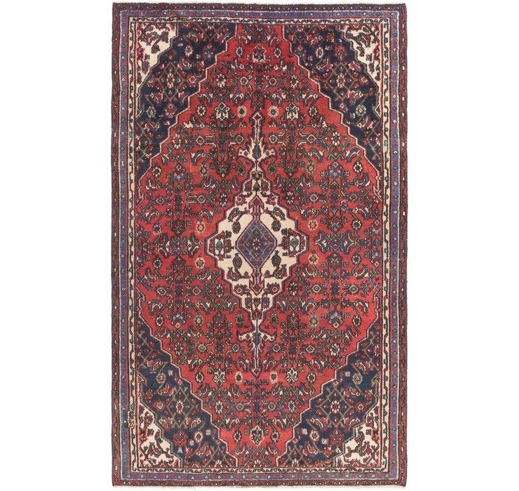 5' x 8' 7 Hamedan Persian Rug