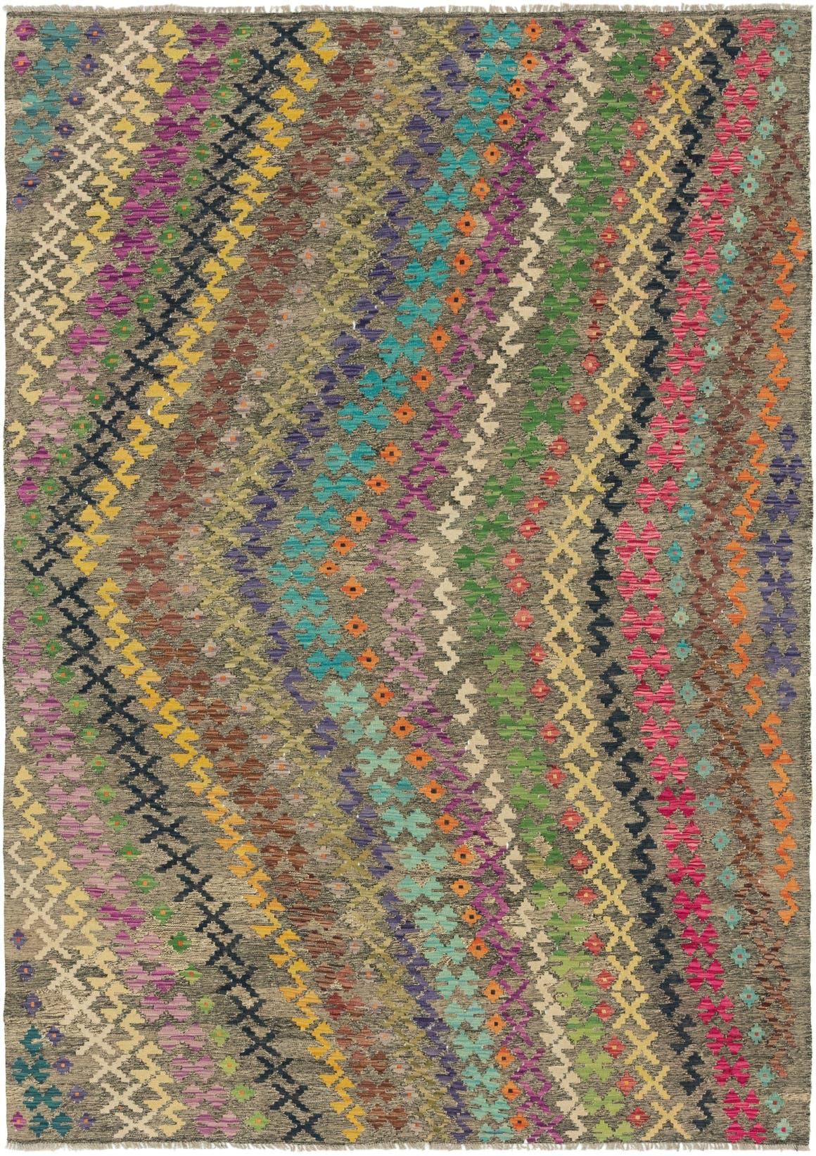 6' 10 x 9' 8 Kilim Modern Rug main image