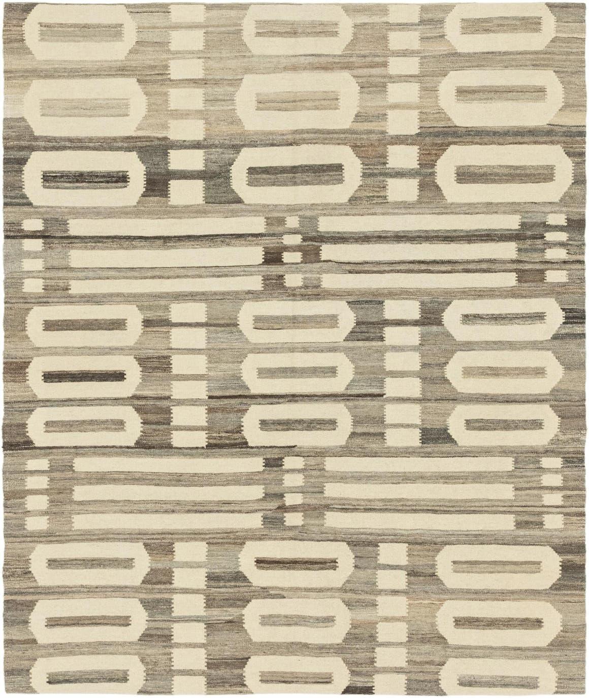 5' 4 x 6' 2 Kilim Modern Square Rug main image