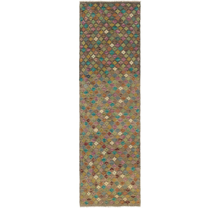 2' 7 x 9' 5 Kilim Modern Runner Rug