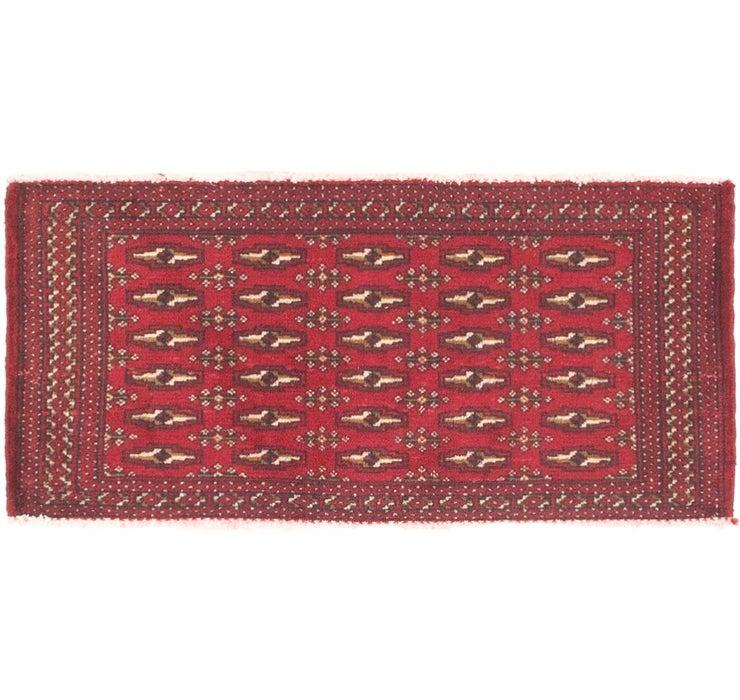 1' 8 x 3' 5 Torkaman Persian Rug