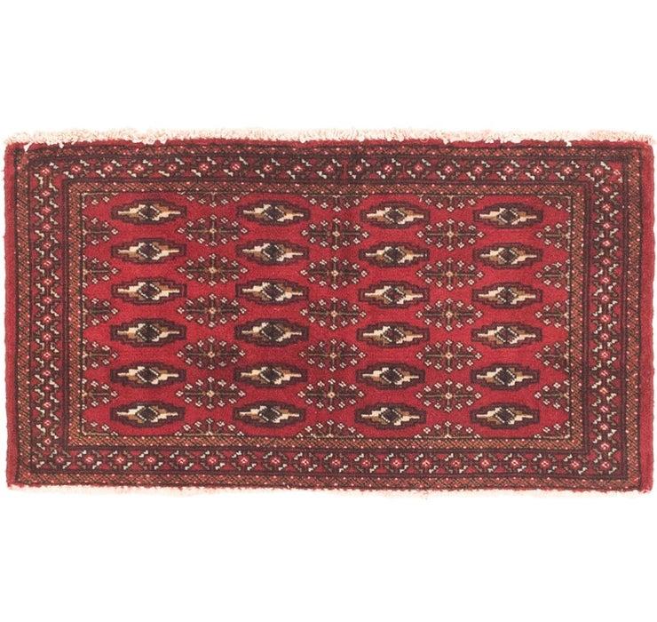 53cm x 97cm Torkaman Persian Rug