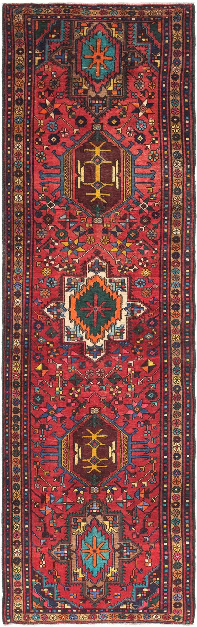 3' 5 x 12' 6 Gharajeh Persian Runner Rug main image