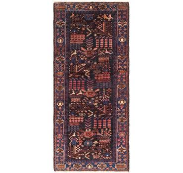 4' 3 x 10' Roodbar Persian Runner Rug main image
