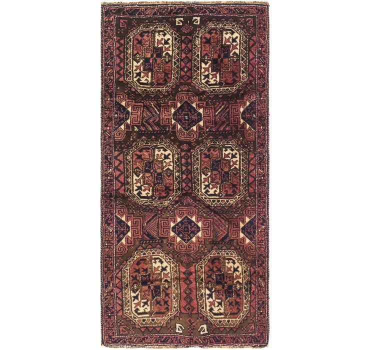 3' 10 x 7' 10 Shiraz Persian Runner Rug