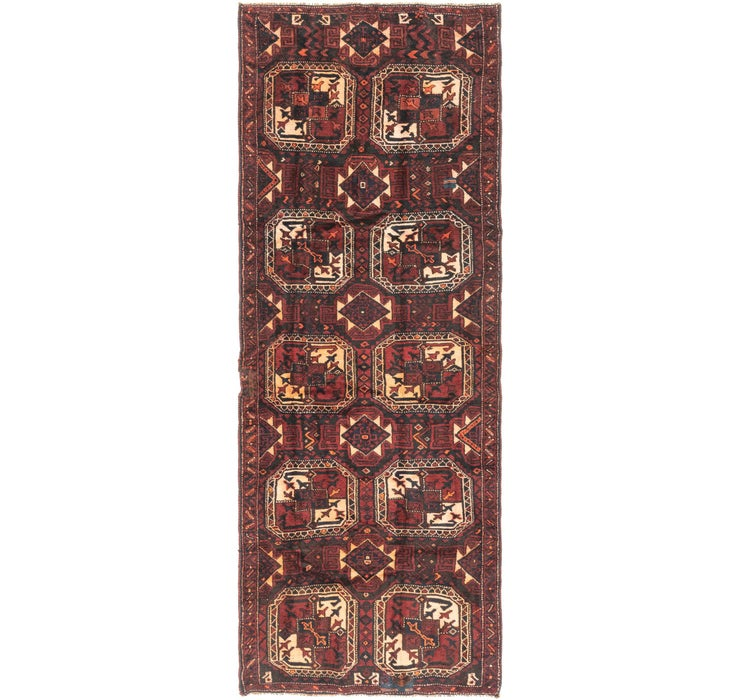 135cm x 373cm Shiraz Persian Runner Rug