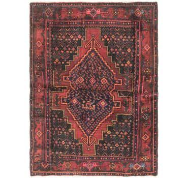 Image of 4' 5 x 5' 9 Senneh Persian Rug