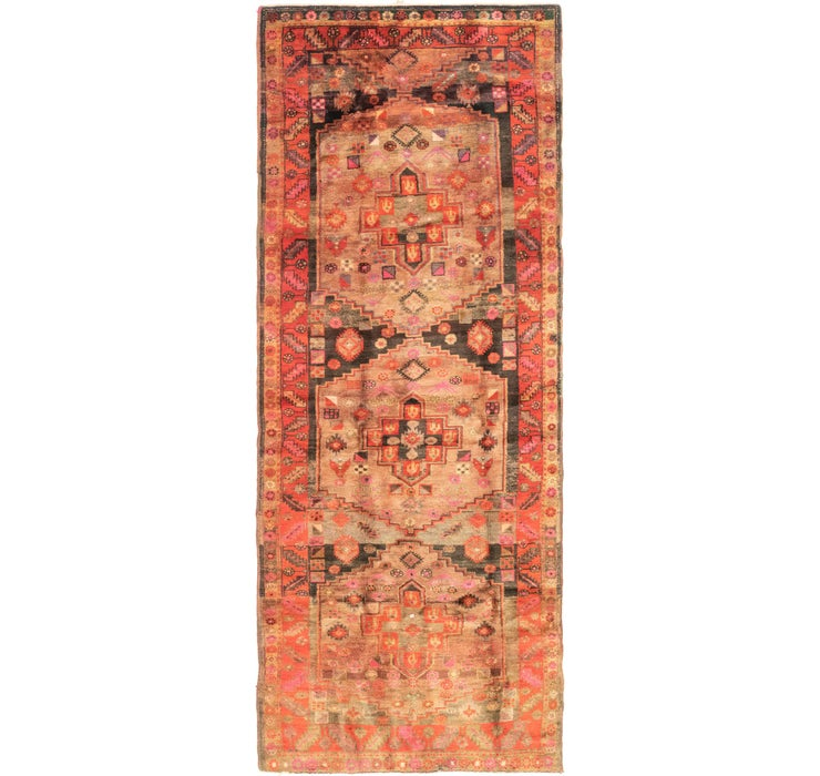 4' 7 x 12' 8 Shiraz Persian Runner Rug