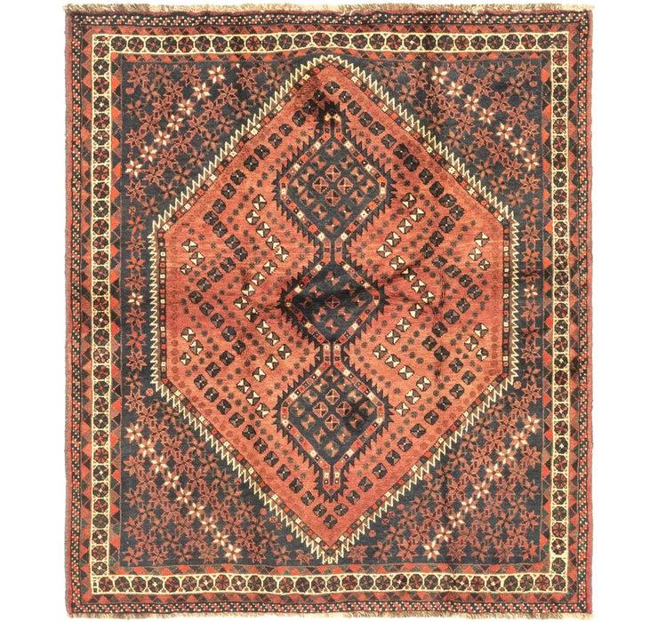 5' 5 x 6' 3 Ghashghaei Persian Rug