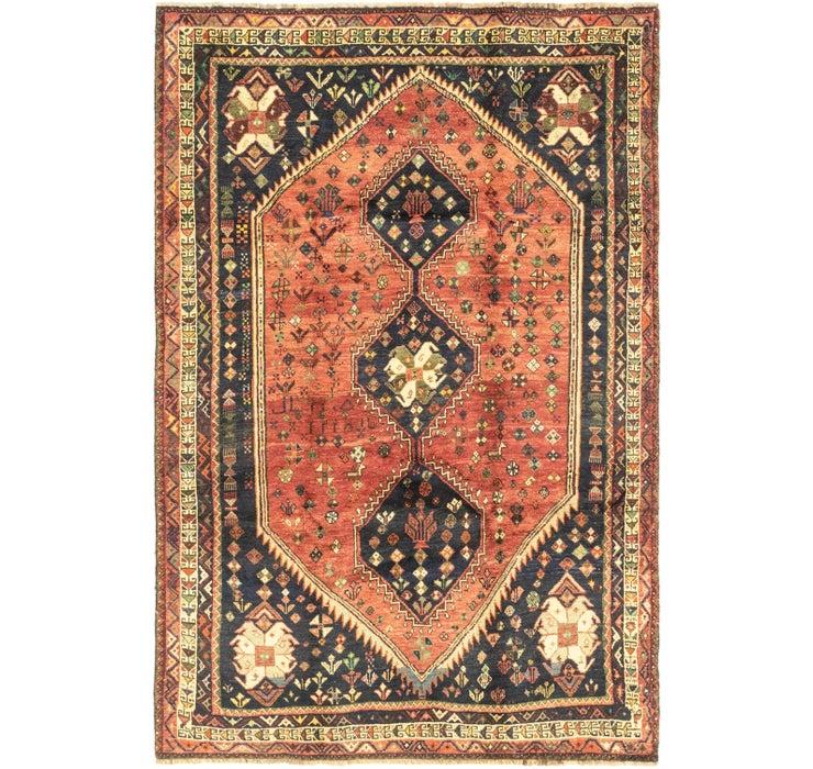 5' 9 x 8' 9 Ghashghaei Persian Rug