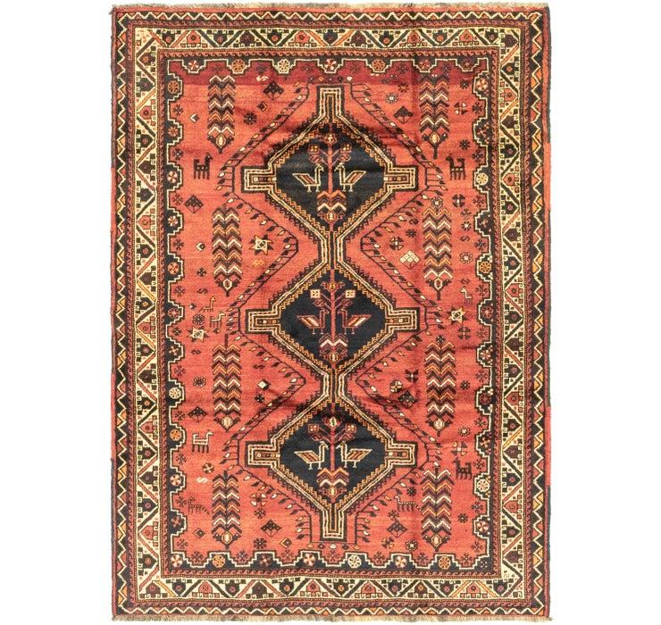 5' 7 x 8' Ghashghaei Persian Rug