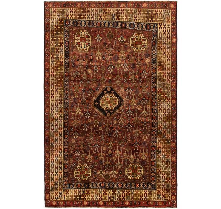 5' 2 x 8' 5 Ghashghaei Persian Rug