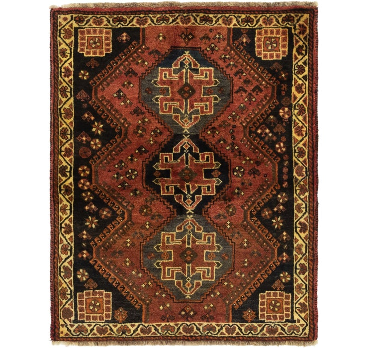 107cm x 132cm Ghashghaei Persian Squa...