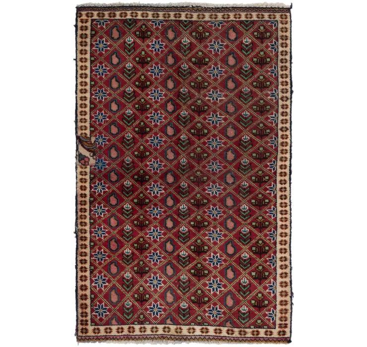 90cm x 142cm Tabriz Persian Rug