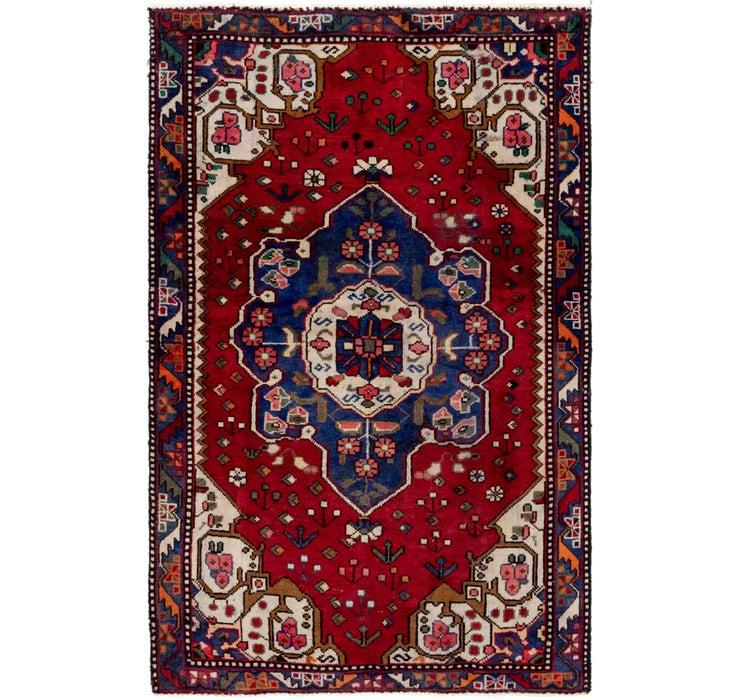 4' 2 x 6' 5 Hamedan Persian Rug