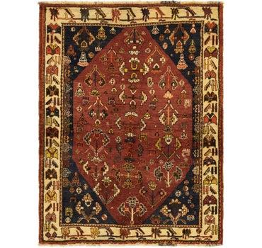 4' x 5' 2 Ghashghaei Persian Rug main image
