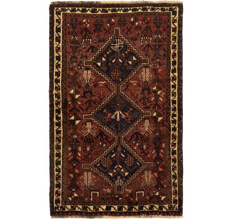 110cm x 173cm Ghashghaei Persian Rug