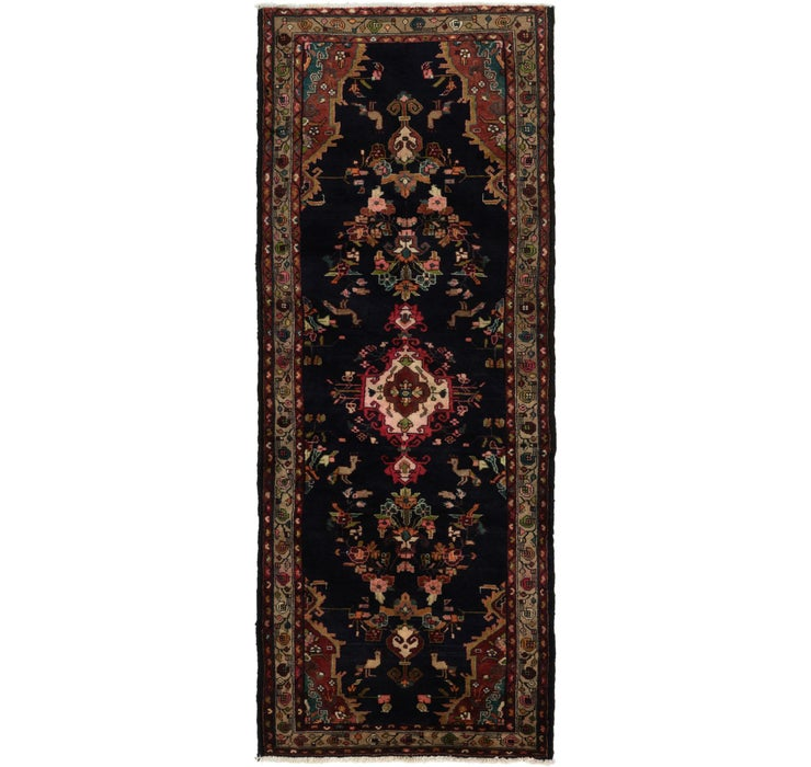 112cm x 328cm Hamedan Persian Runner ...
