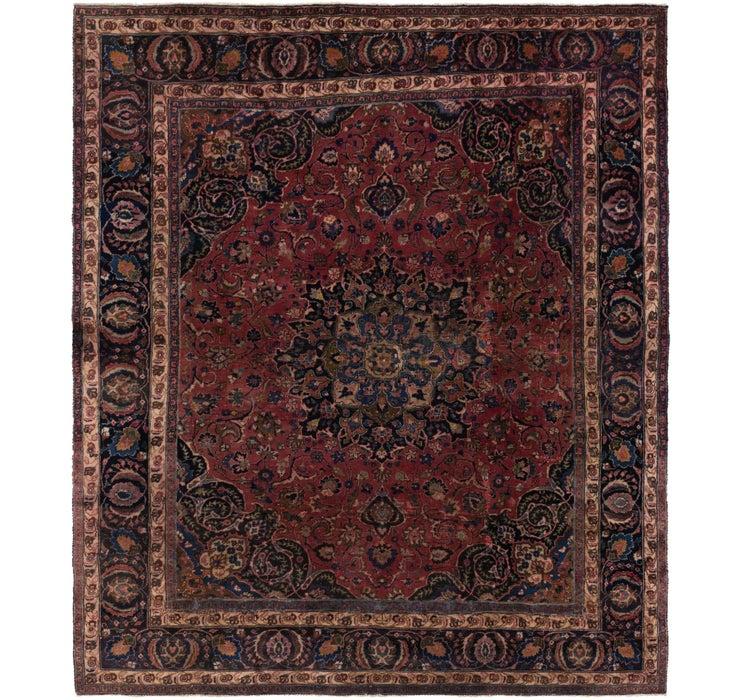 8' 2 x 9' 2 Mashad Persian Rug