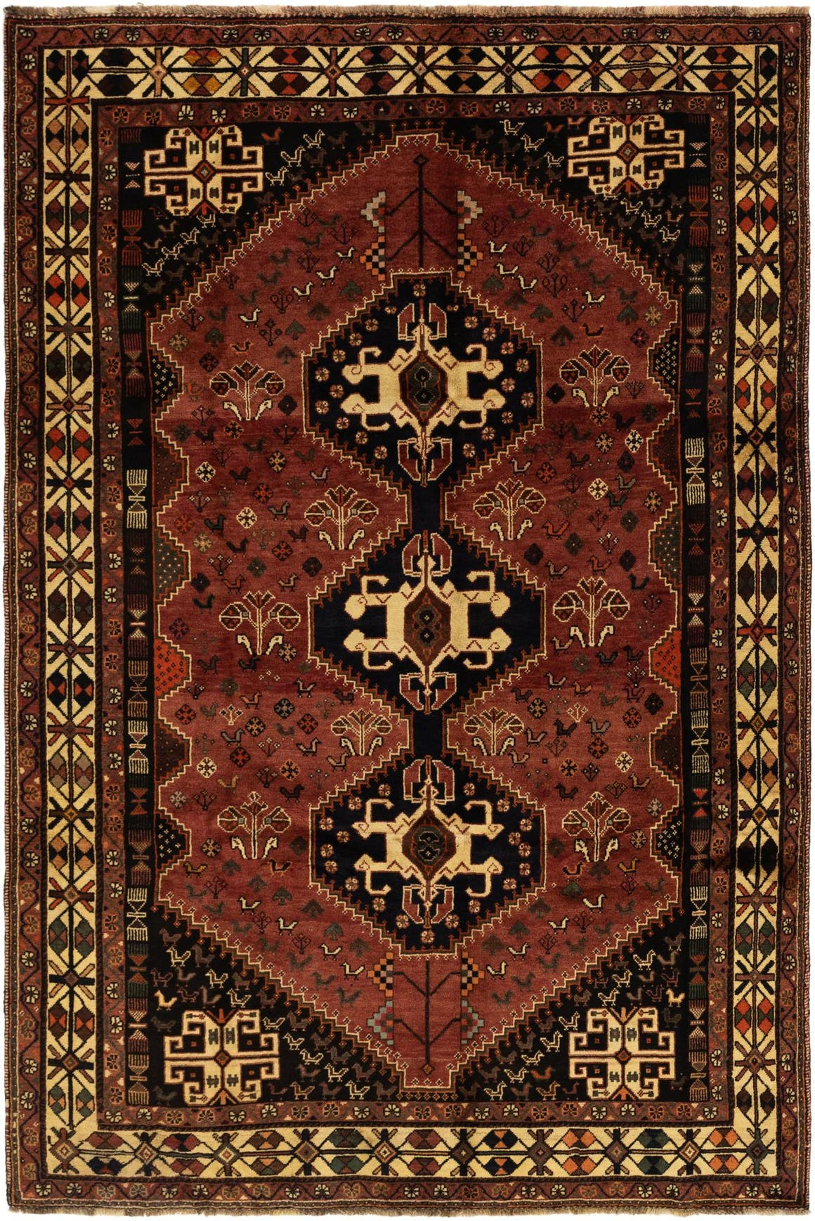 6' 5 x 9' 10 Ghashghaei Persian Rug main image
